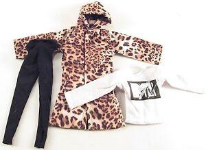 1/6 Magic Cube Leopard Skin Coat Yoga Pants MTV Sweatshirt Street Wear Clothing