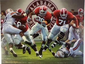 "Daniel Moore ""The Blowout"" Alabama Football Lithograph Print"