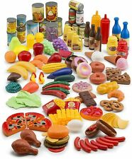 122-Piece Deluxe Kids Pretend Play Food Set Beautiful Toy Food Assortment