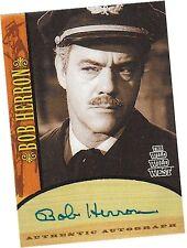 Wild Wild West Season 1 (One): Bob Herron - Captain Jackson Autograph/Auto Card