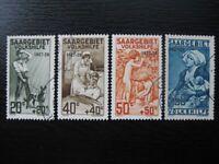 SAAR SAARLAND Mi. #104-107 scarce used stamp set! CV $155.00