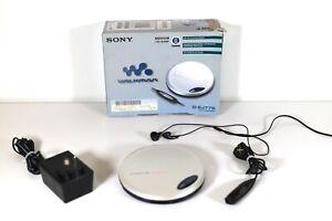 D-EJ775 Sony Walkman Discman CD Player Original Box Vintage Retro - Tested Works