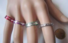 Lote 4 anillos aluminio colores nº 8 ó 17 mm diámetro medio bisutería r-21