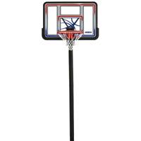 "Basketball Hoop 44"" Shatterproof In-Ground Adjustable System Welded Steel Net"