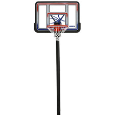 "Basketball Hoop 44"" Shatterproof In-Ground Adjustable System Welded Steel Net"