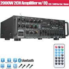 2000W HiFi Verstärker bluetooth 5.0 Stereo Vollverstärker Amplifier FM Radio MP3
