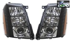 07-14 Cadillac Escalade Black Projector Headlight For Factory Xenon Models DEPO