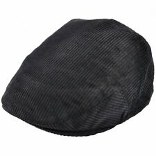 Unisex Corduroy Flat Cap Country Cord Traditional Peaked Newsboy Hat