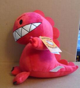 "Kohls Cares Dinosaur vs Bedtime Red by Bob Shea10"" Plush New sa"