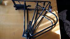 Fahrrad Gepaecktraeger , universal mit Federhalter, schwarz