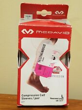 McDavid 6577 Compression Calf Sleeves - Pair - White - L Large
