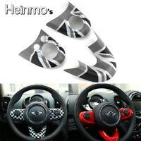 Gray Union Jack Car Steering Wheel Cover For Mini Cooper F54 F55 F56 F57 F60