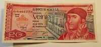 El Banco De Mexico SA 20 Pesos Pacara Veinte 8 JULY 1977 Bank Note (LOT MC108)