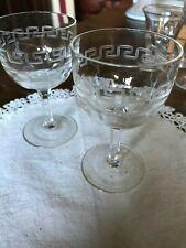 Pair of victorian wine /  port glasses