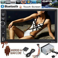 "HD 7"" GPS Android 4.4 CAR Radio MP3 MP5 Player Bluetooth Touch 2 Din USB/AUX/FM"