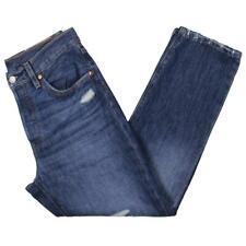 Levi's Feminino 501 Denim Médio Lavagem Jeans Desfiado bainha cortada 2194 BHFO