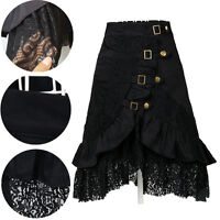 Women Rock Dress Gothic Steampunk Black Lace Cloth Party Club Summer Gift Hot