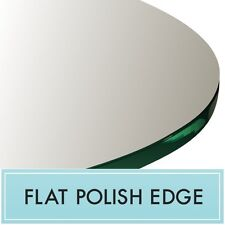 """45"""" Inch Clear Tempered Round Glass Table Top 1/4"""" thick - Flat polish edge"""