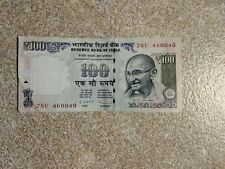 India 100 Rupees Gandhi discontinued rare note