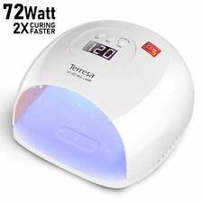 UV LED Nail Lamp, Terresa 72 Watt Faster Nail Dryer for Gel Polish, Nail Light