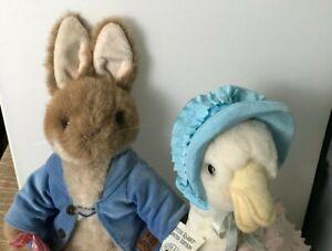 "PETER RABBIT & JEMIMA PUDDLE-DUCK BEATRIX POTTER Lot of 212""Plus TAGS ON!"