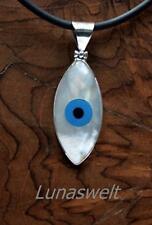 """Perlmutt Collier """" Magische Auge """" in 925 Silber Riesig"""