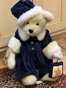 BOYDS BEAR ALEXIS BERRIMAN TEDDYXMAS BEAR BLUE VELVET STAND JOINTED 912022NEW