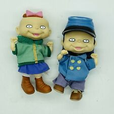 "Vtg Rugrats Phil & Lil Twin 1997 Kids 4"" Mattel Action Figure Doll Nickelodeon"