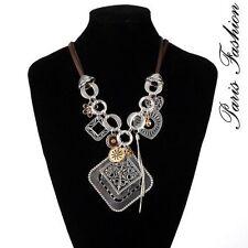 Modeschmuck-Halsketten aus Leder mit Strass