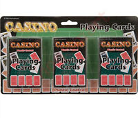 NEW 3 PK CLASSIC PLAYING CARDS TRICK POKER GAME MAGIC COATED DECK SET RED CASINO