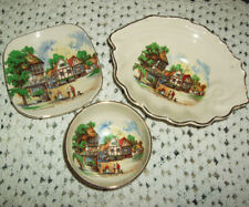 Vintage Sandland wear, three pin dishes, Down Somerset Way, highly collectable