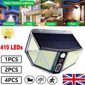 410 LED Solar Power Outdoor Garden Security Lamps PIR Motion Sensor Wall Lights