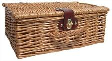 "Natural Wicker Traditional Christmas Gift Hamper Basket with Lid - SMALL (12"")"