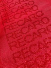 Recaro Seat Fabric Material RED FORD AUDI NISSAN TOYOTA HONDA VW BMW JDM
