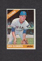 1966 TOPPS Baseball Card 447 Dick Ellsworth Chicago Cubs NMMT O/C Original Error