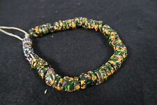 Vieja Millefiori abalorios i old Venetian vintage African Trade beads afrozip
