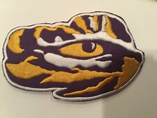 "LSU TIGERS vintage iron on embroidered patch 4"" X 2.5"""