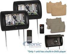 "Power Acoustik HDVD-91CC Dual 9"" LCD Universal Replacement Headrest Monitors"