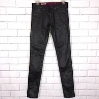 AG Adriano Goldschmied The Legging Super Skinny Coated Jeans Sz 25