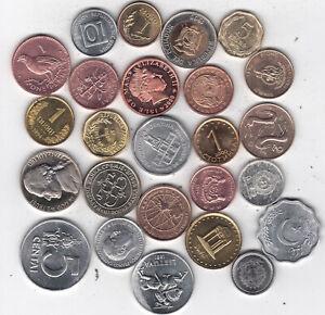 Sammler-Lot aus 25 (fünfundzwanzig) verschiedenen Münzen aus 24 Ländern.(Z46)