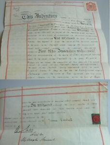 Pergament-Urkunde (English Parchment) Wellington (Somerset) 1902 Hartnell Hooper