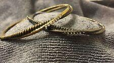Wrap Designer Twist Wire 4 Station Row Zircon Double Ring Bangle Bracelet
