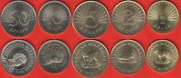 Macedonia set of 5 coins: 1 - 50 denari 2008-2016 UNC