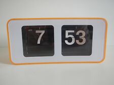 Flip Clock flipclock Orange retro una réplica cifras plegable reloj goma 70er Design