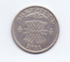 (RARE) Yorkshire Sheffield silver shilling JETON 1811 D.53 GF