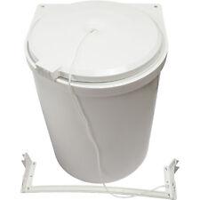 Pattumiera Sottolavello Goccia Modello 2Bis Per Porta Cucina Colore Bianco 10 lt