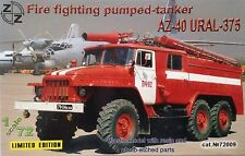 AZ-40 Ural-375 fire fighting pumped-tanker ZZ Exclusive Modell 72009 1:72 Limite
