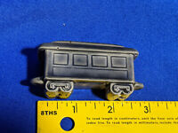 Miniature Ceramic Train Car Figurine Railroad Dollhouse HO Model Unique Gray VTG