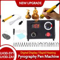 Professional Electric Soldering Iron  Wood Burning Pen Pyrography Craft DIY Kit