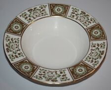 """Royal Crown Derby - Green Panel - 8 1/4"""" Rimmed Soup Bowl - XXXVIII/1975 - 2nd"""